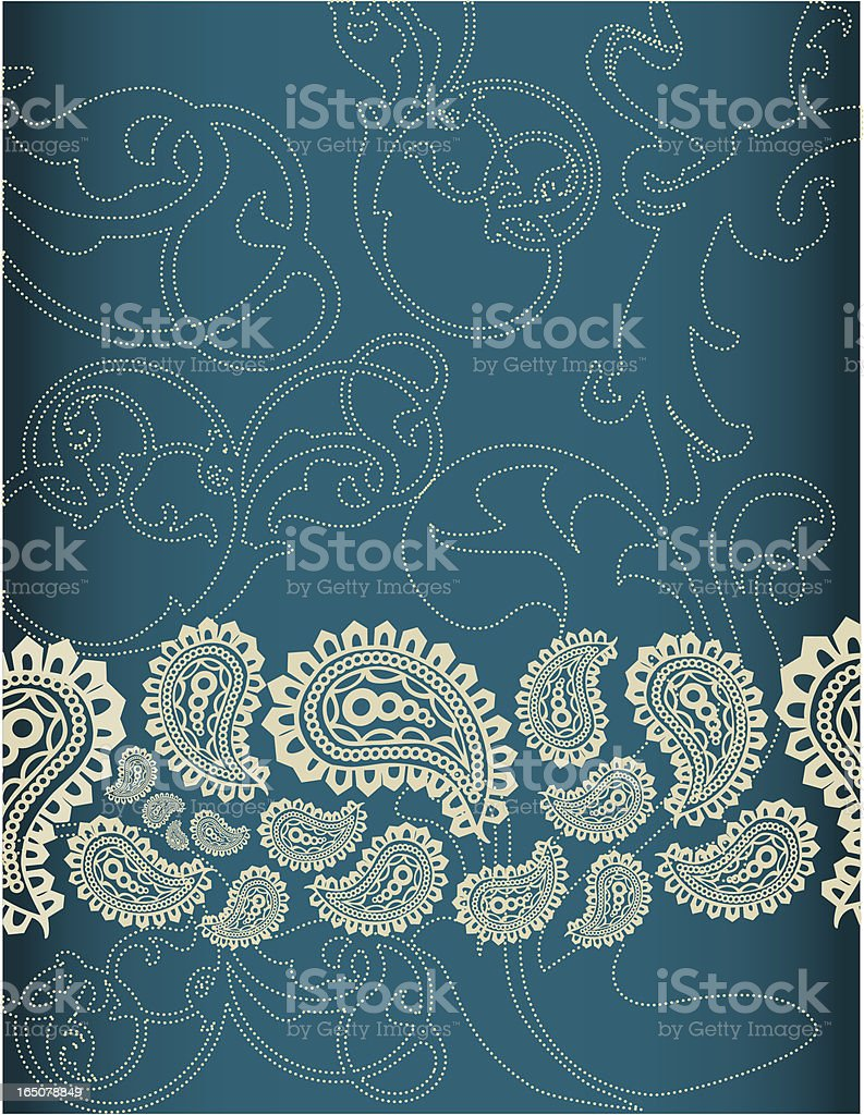 Paisley and scroll royalty-free stock vector art