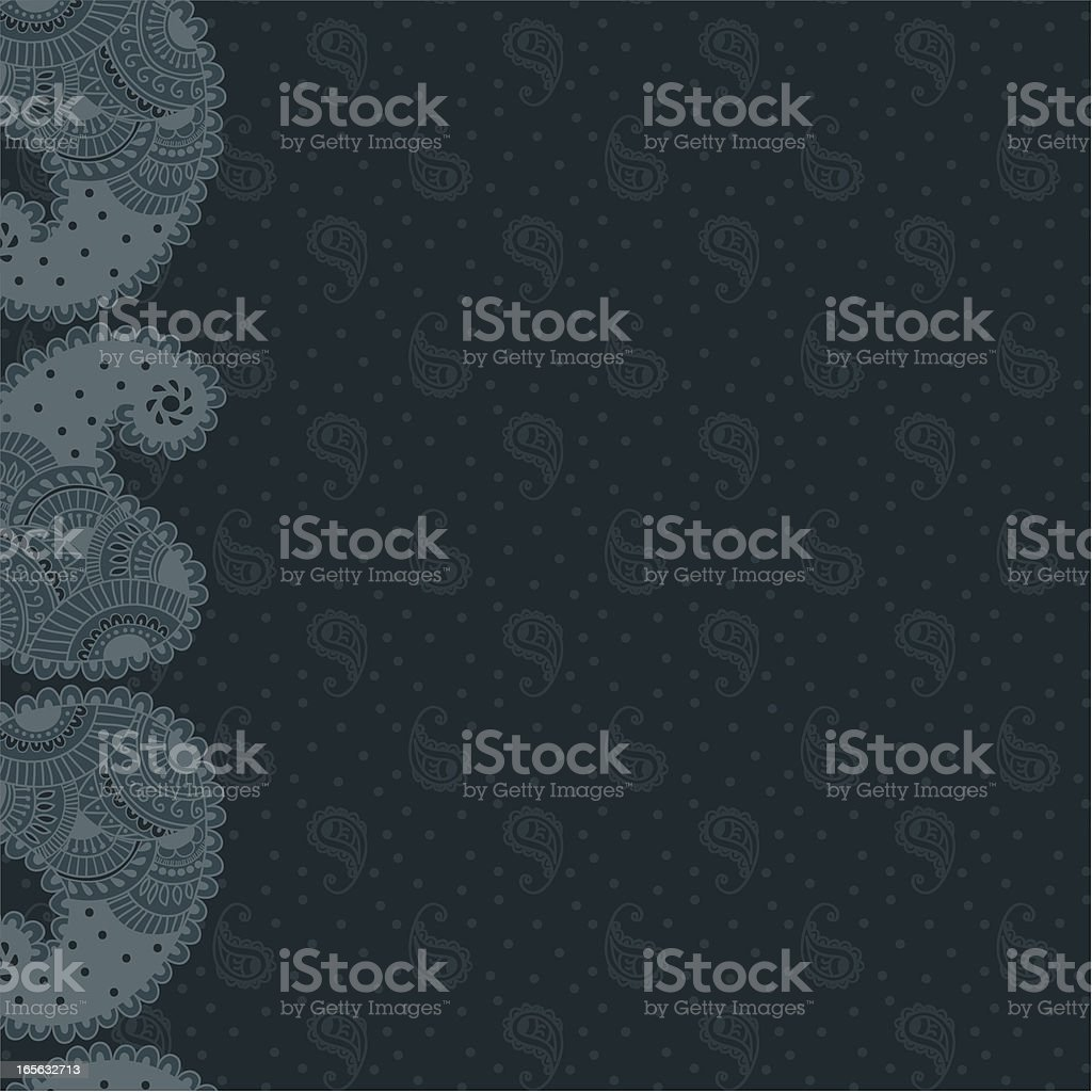 Paisley Background - Blue royalty-free stock vector art