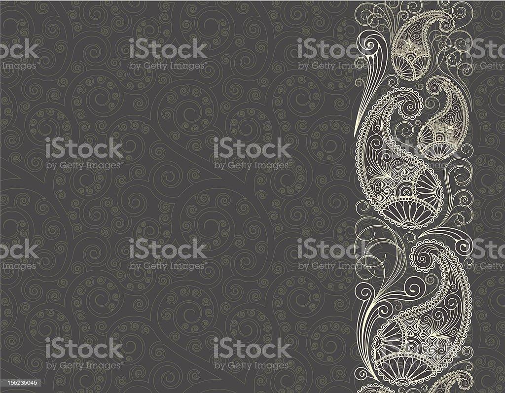 paisley background vector art illustration
