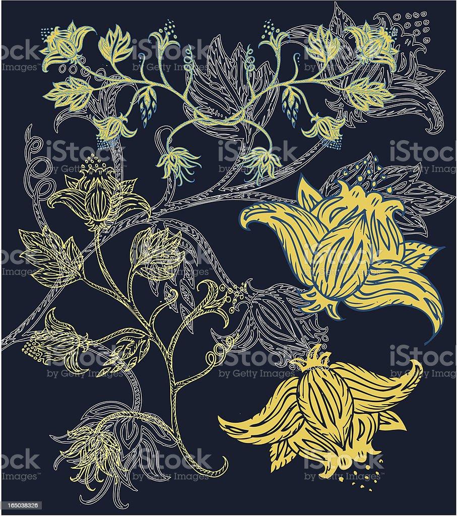 paisley-Honig Lizenzfreies vektor illustration