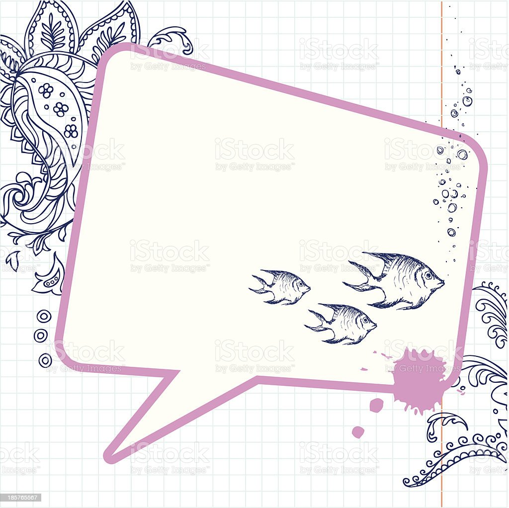 Paisley Doodles - illustration royalty-free stock vector art