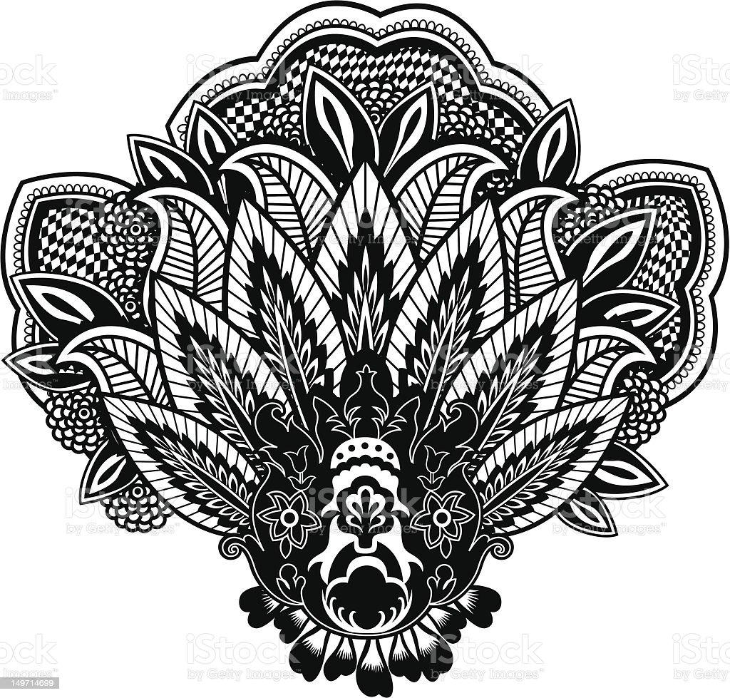Illustrazione con motivo cashmere illustrazione royalty-free