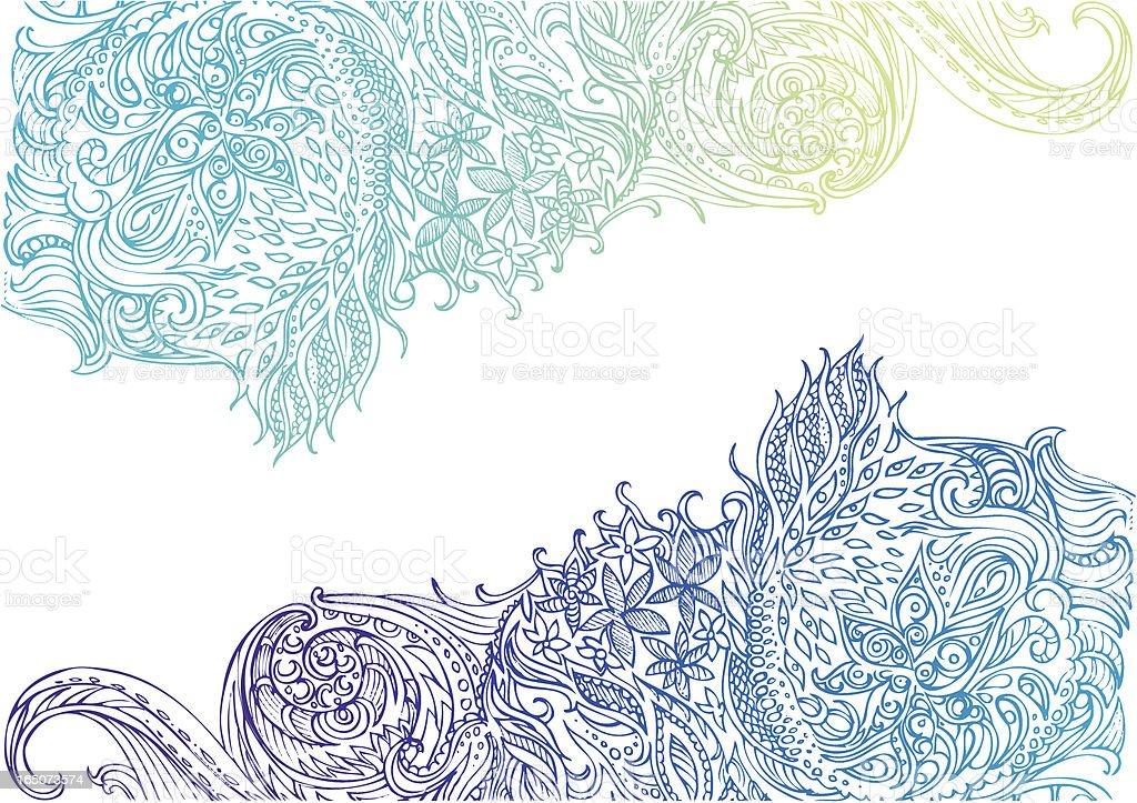 paisley-Landschaft Lizenzfreies vektor illustration