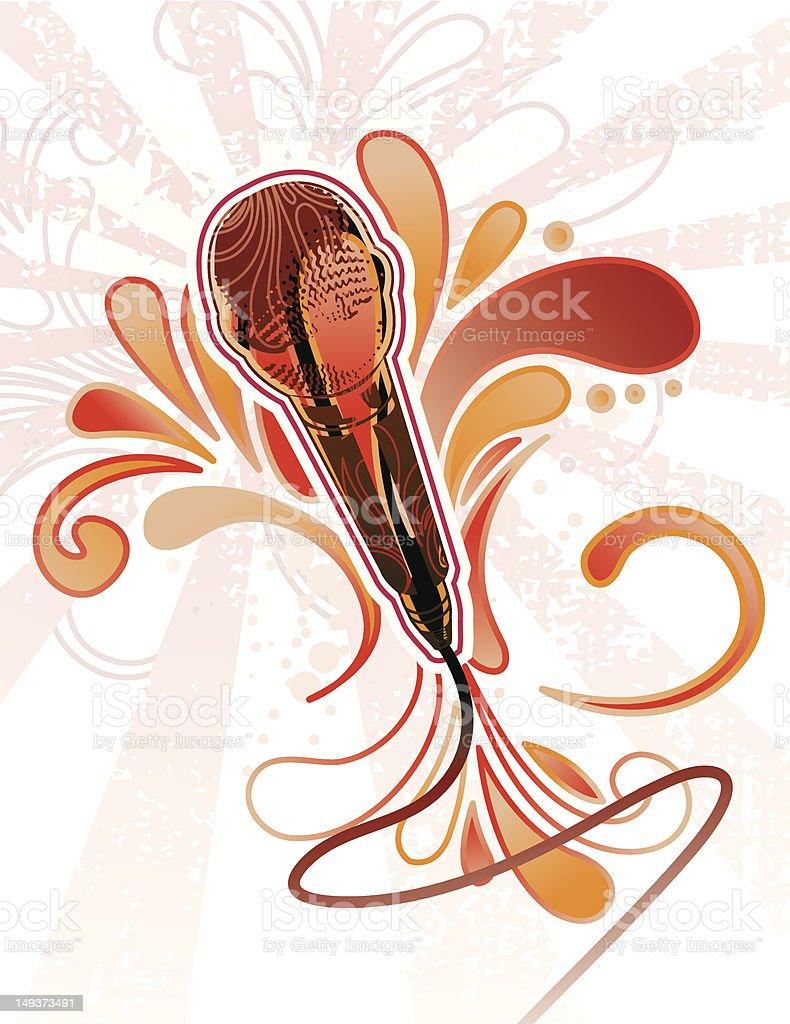Paisley Mic vector art illustration