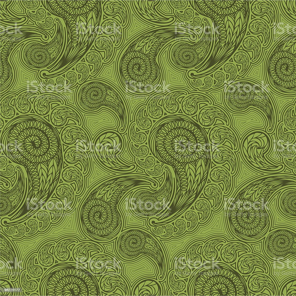 Paisley Pattern in Four Colors royalty-free stock vector art
