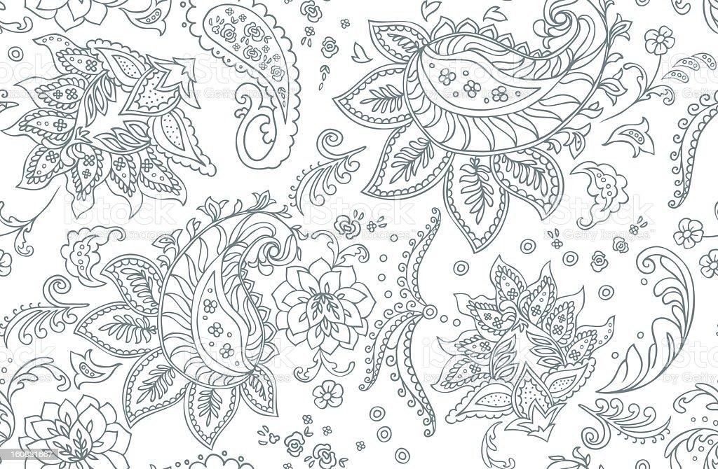 Paisley Pattern vector art illustration