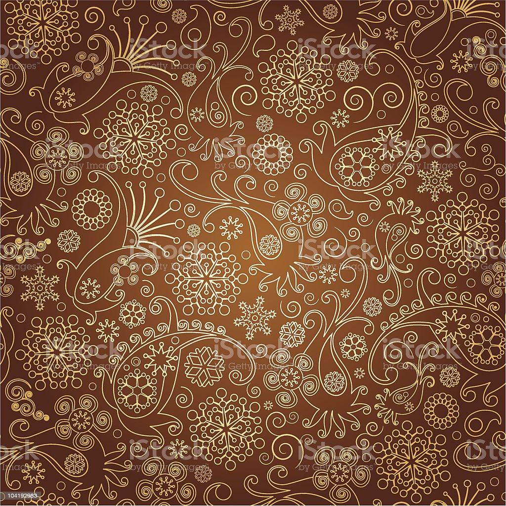 paisley seamless  background vector art illustration