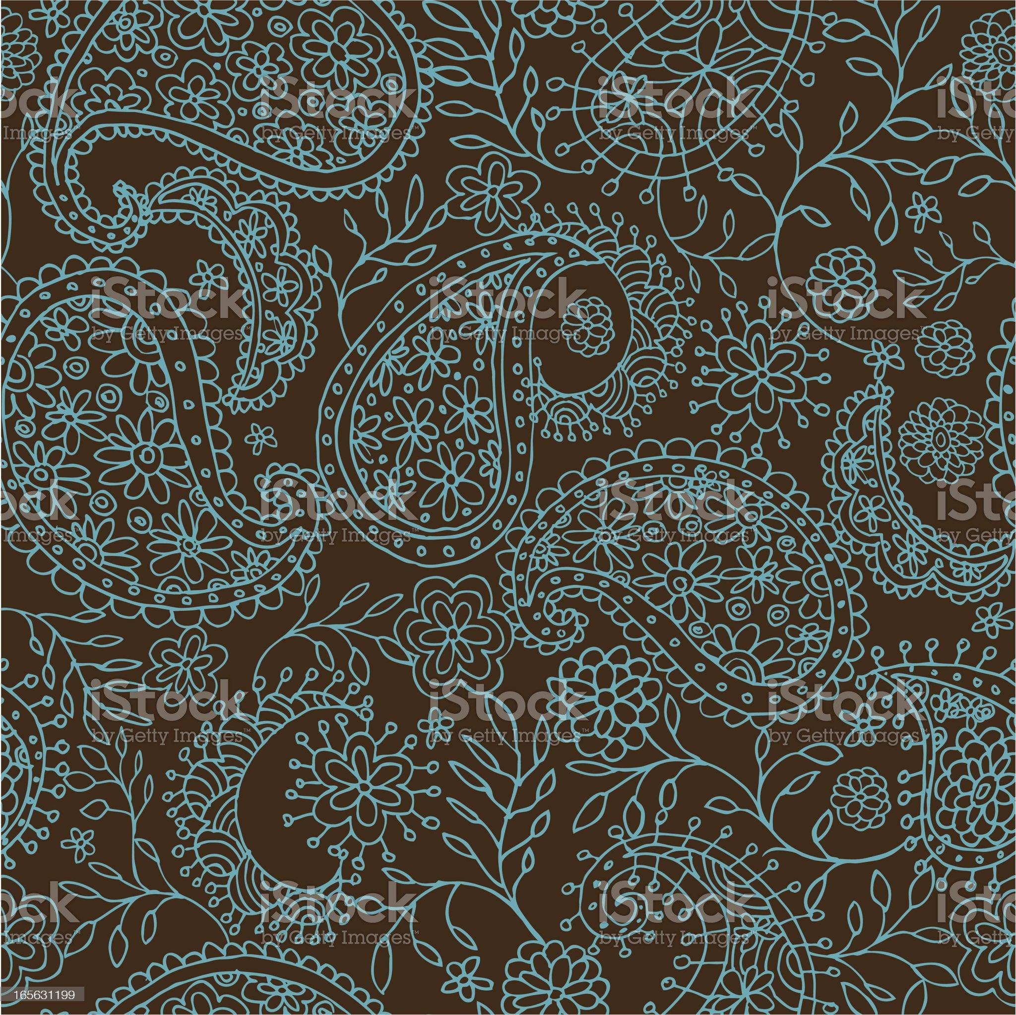 Paisley Seamless Pattern royalty-free stock vector art