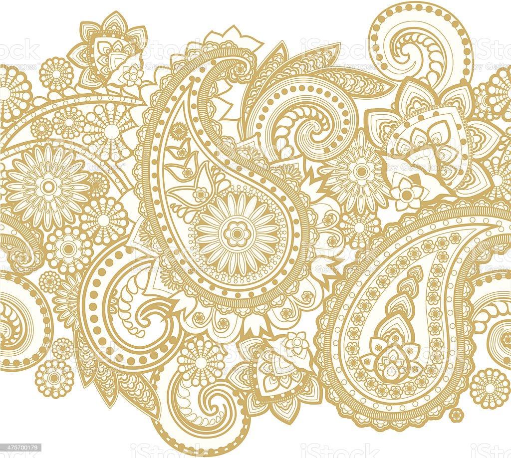 Paisley vector art illustration