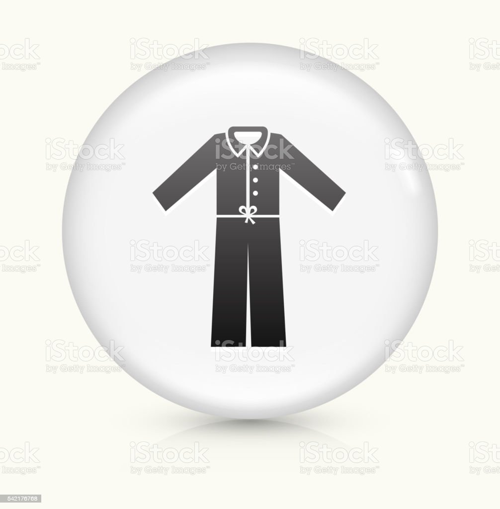 Pajamas icon on white round vector button vector art illustration