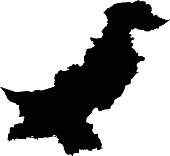 Pakistan map on white background vector