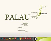Palau map with navigation icons