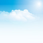Pale blue sky and white clouds
