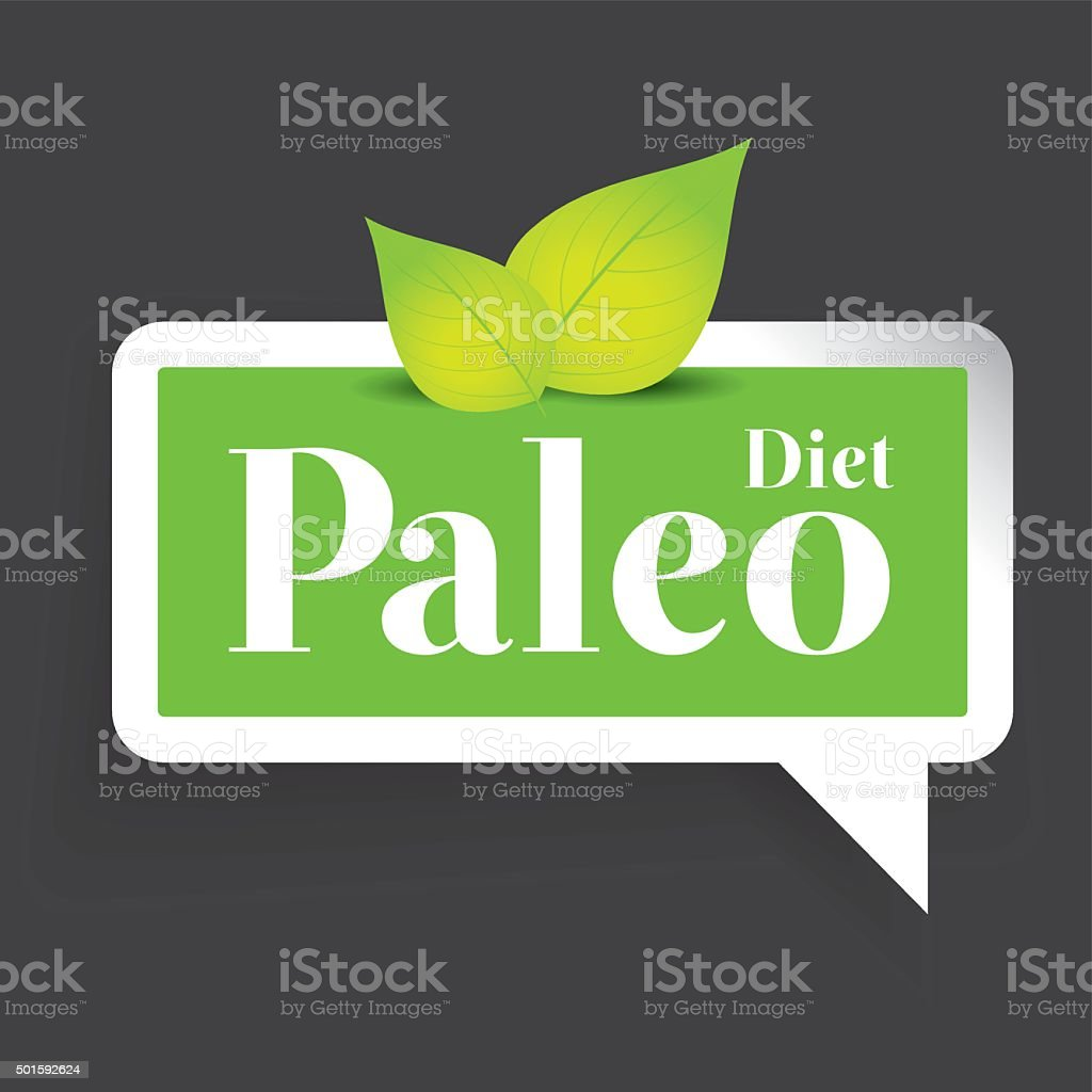 Paleo diet label vector vector art illustration
