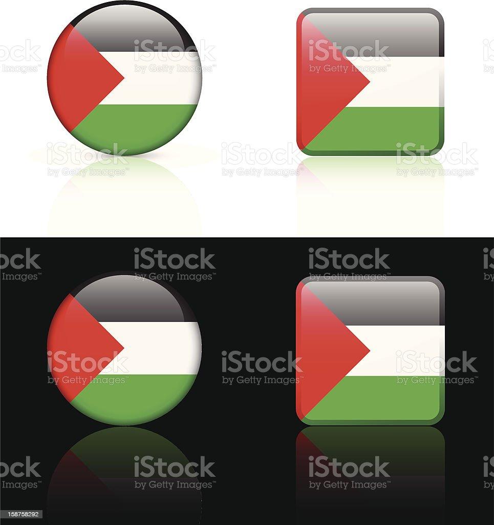 Palestine Flag Button Set royalty-free stock vector art