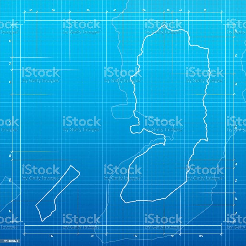 Palestinian territories map on blueprint background stock vector art palestinian territories map on blueprint background royalty free stock vector art malvernweather Gallery