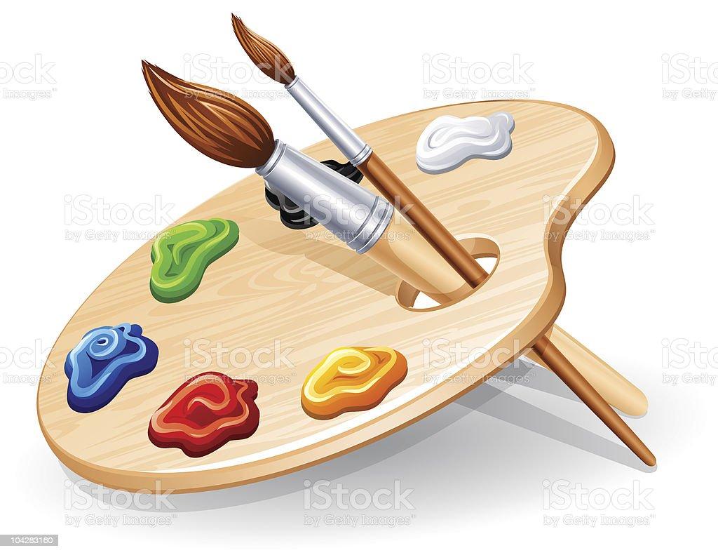 Palette vector art illustration