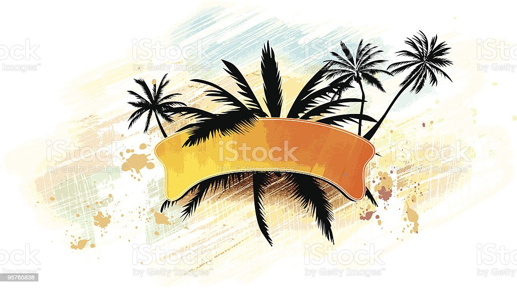 Palm banner royalty-free stock vector art