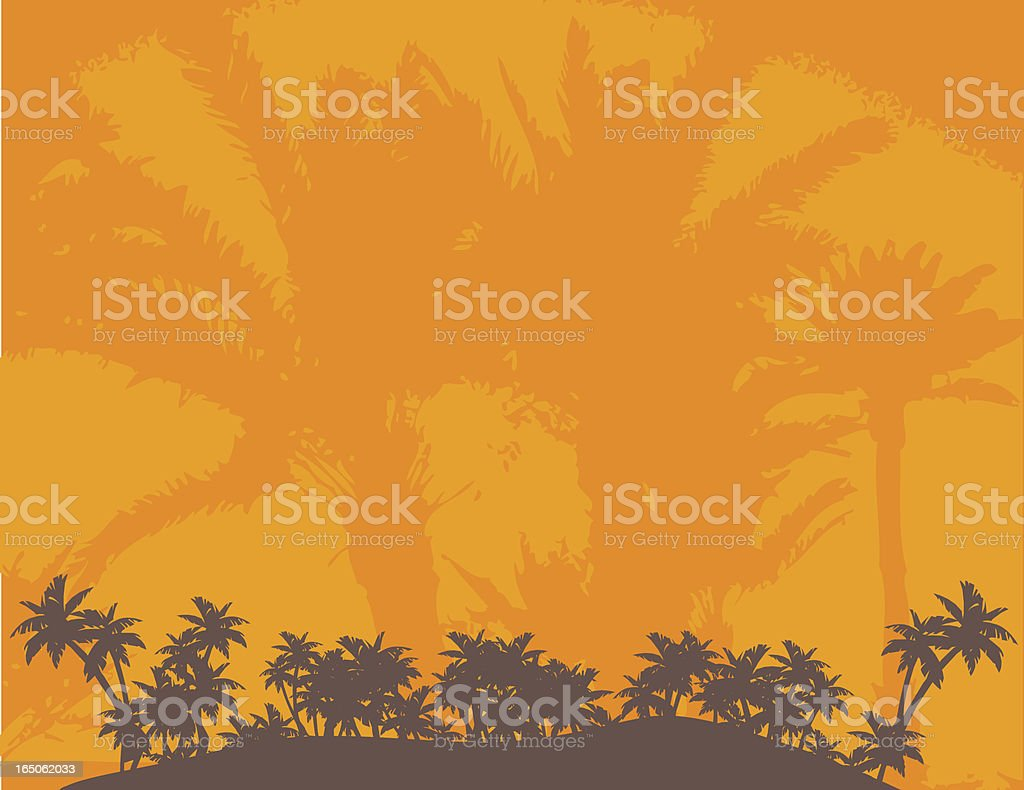 Palm beach background royalty-free stock vector art