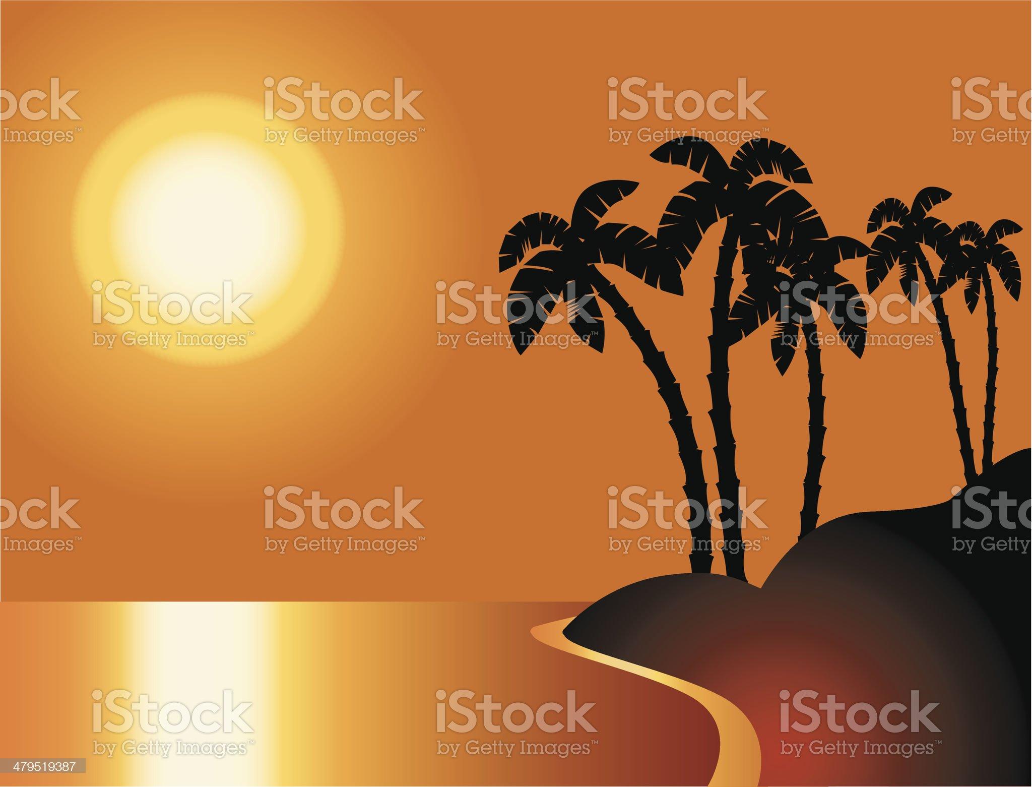 Palm beach royalty-free stock vector art