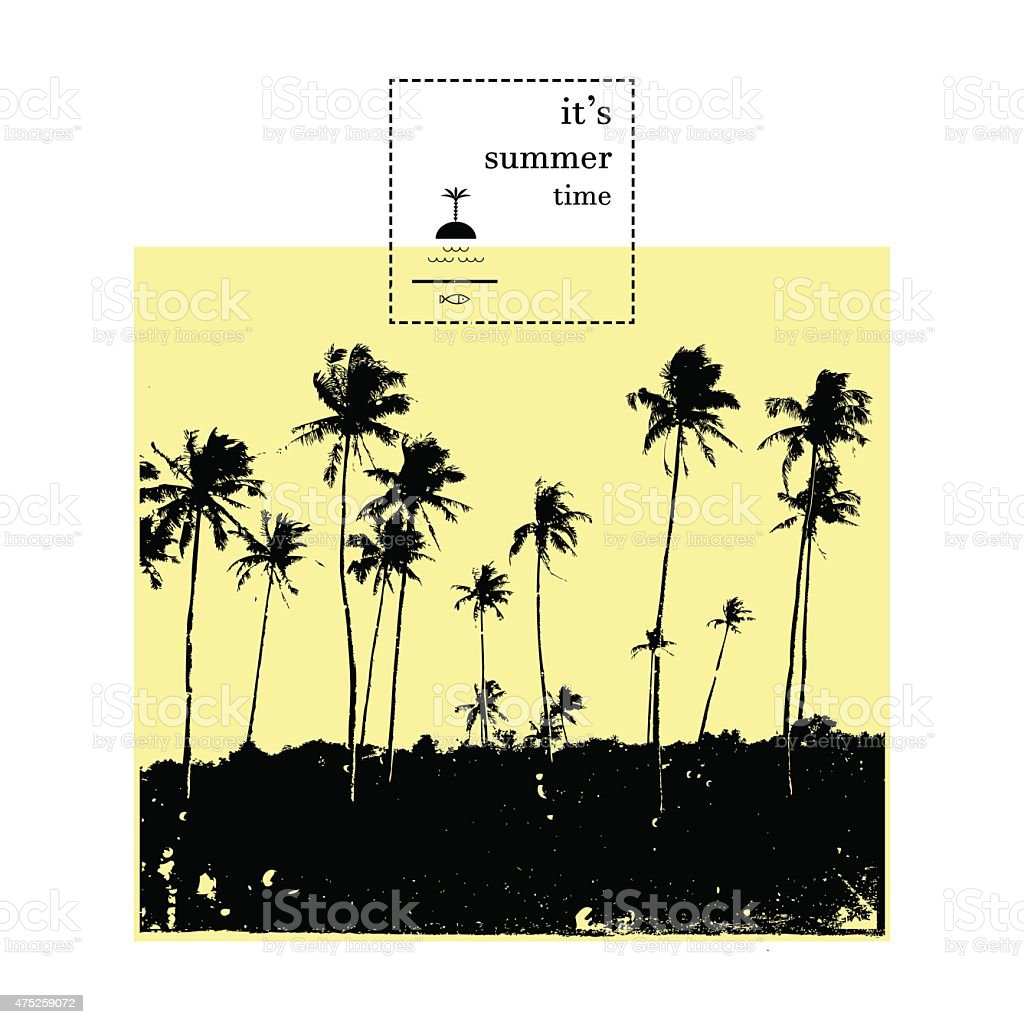 Palm collection. Vector. vector art illustration