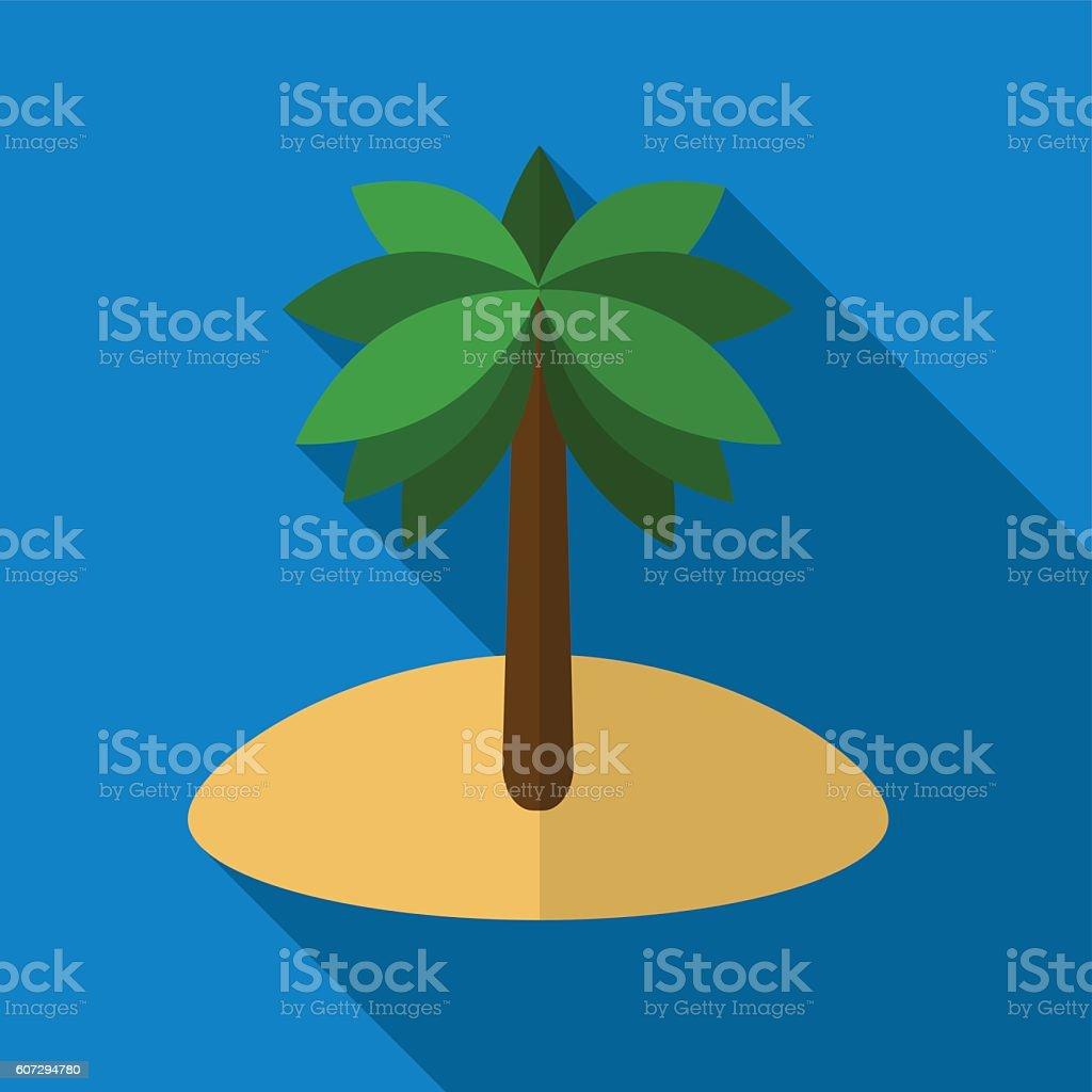 Palm flat icon illustration vector art illustration