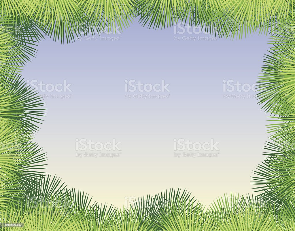 Palm fringe royalty-free stock vector art