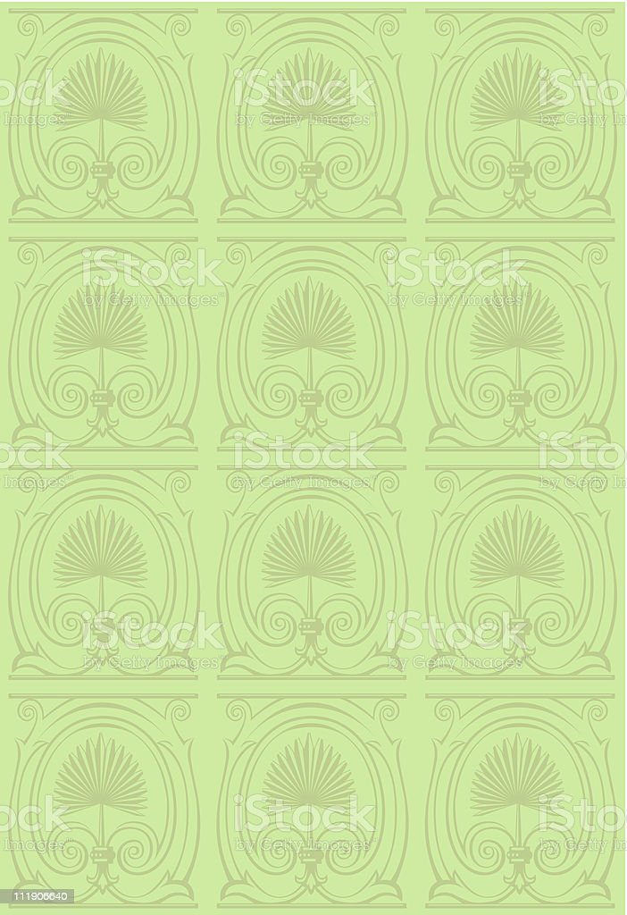 Palm frond pattern vector art illustration