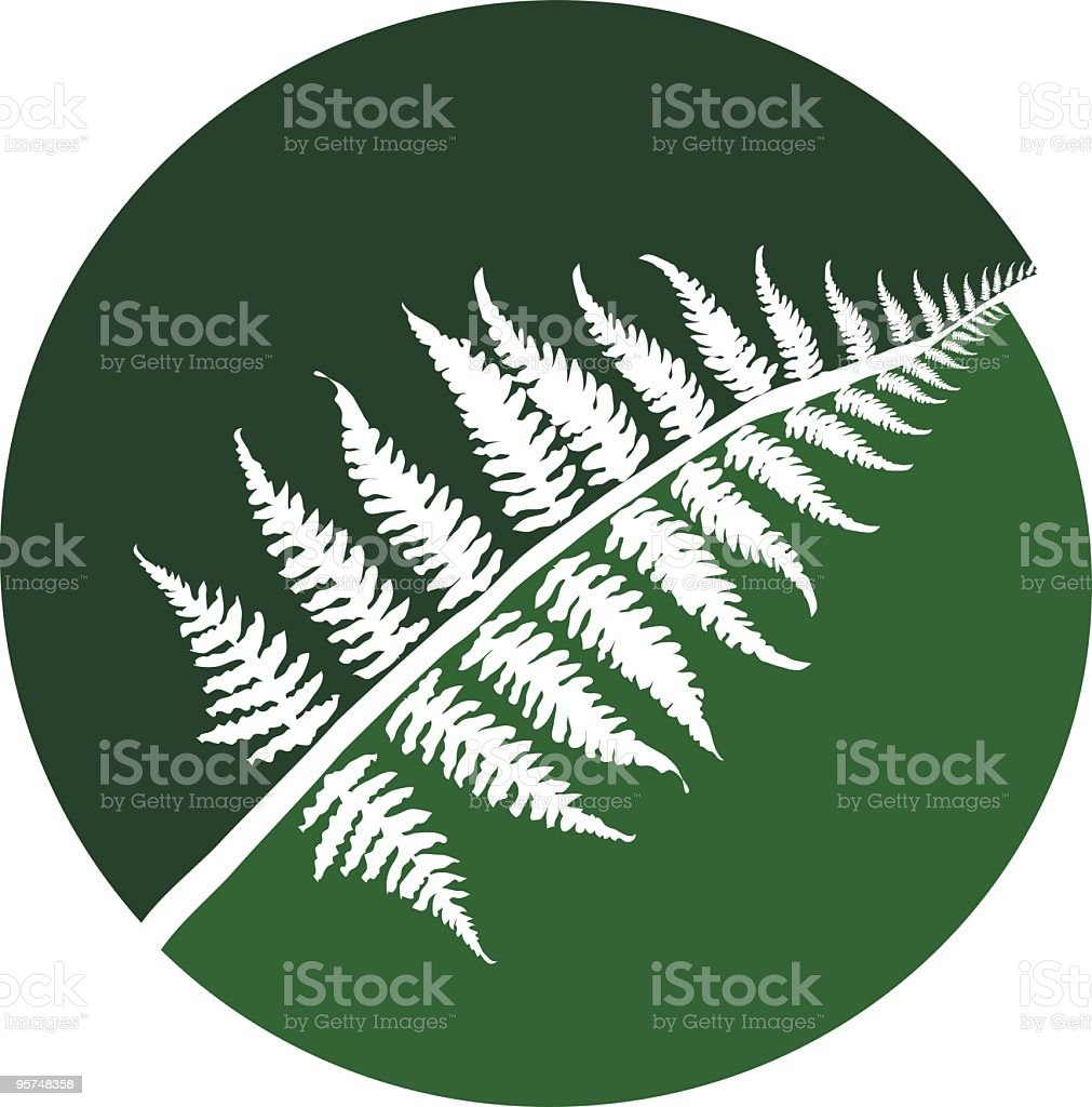 Palm Frond Symbol royalty-free stock vector art