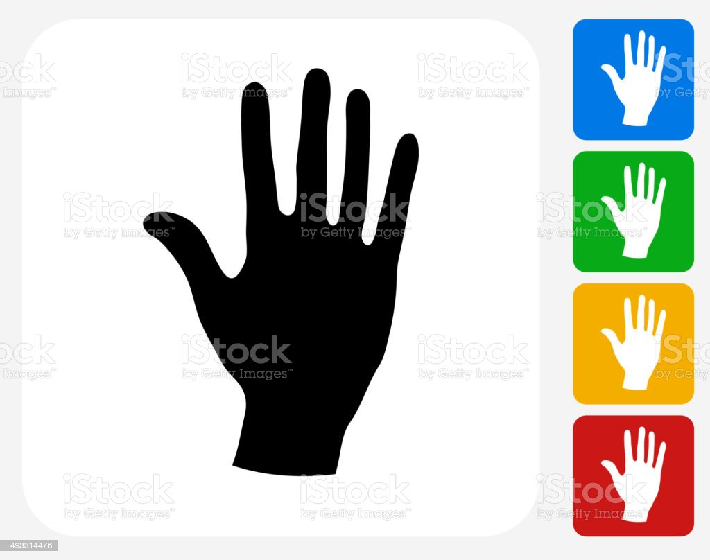 Palm Icon Flat Graphic Design vector art illustration
