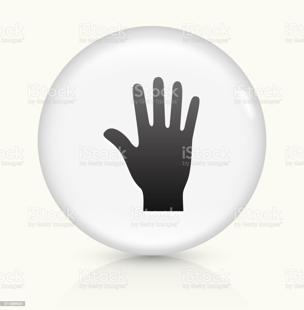 Palm icon on white round vector button vector art illustration