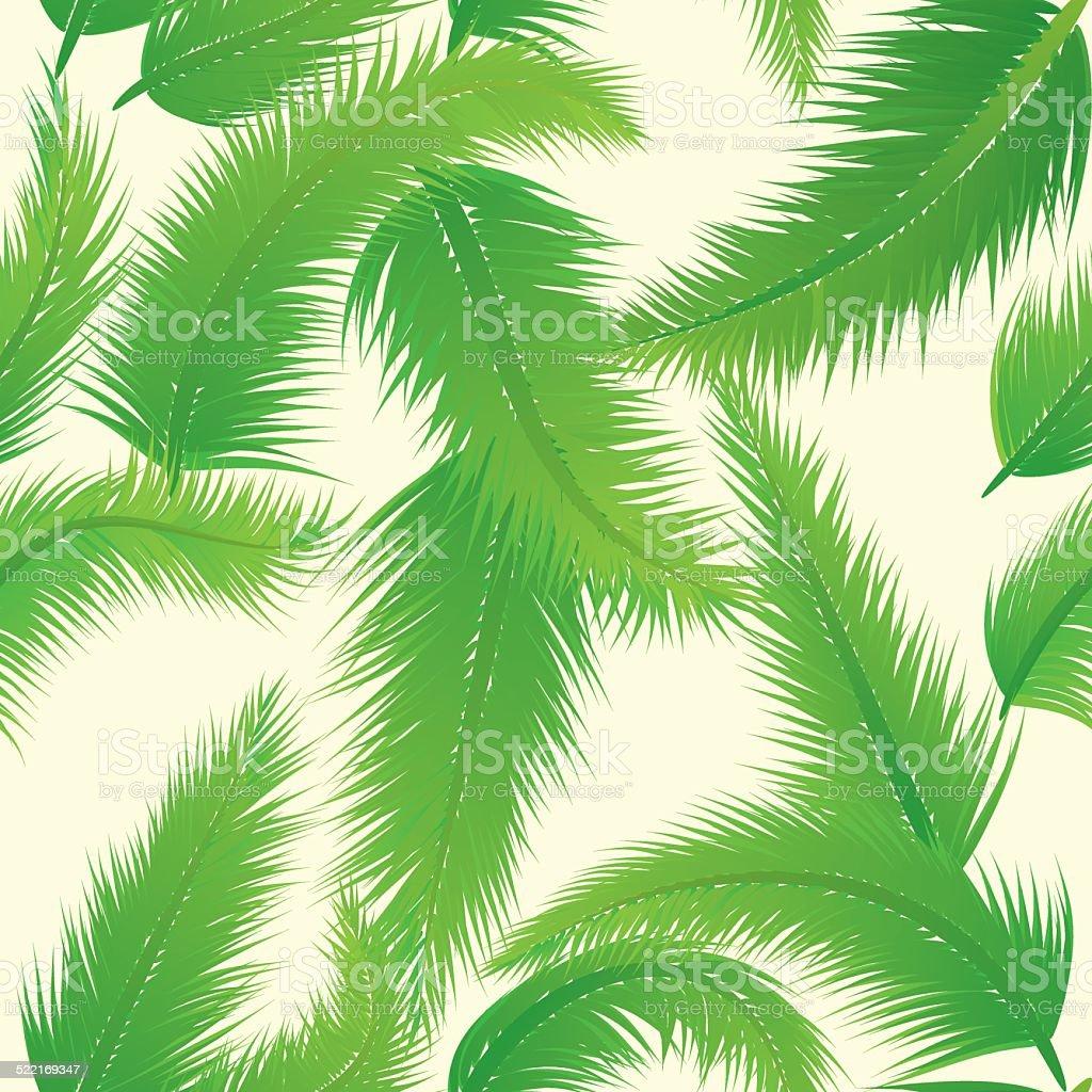 Palm Leaf Pattern vector art illustration