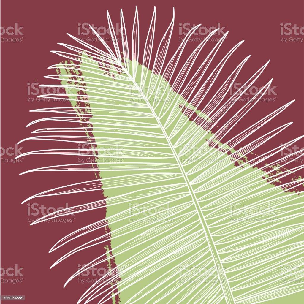 Palm Print with Splash vector art illustration