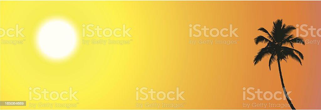 Palm Sunset royalty-free stock vector art