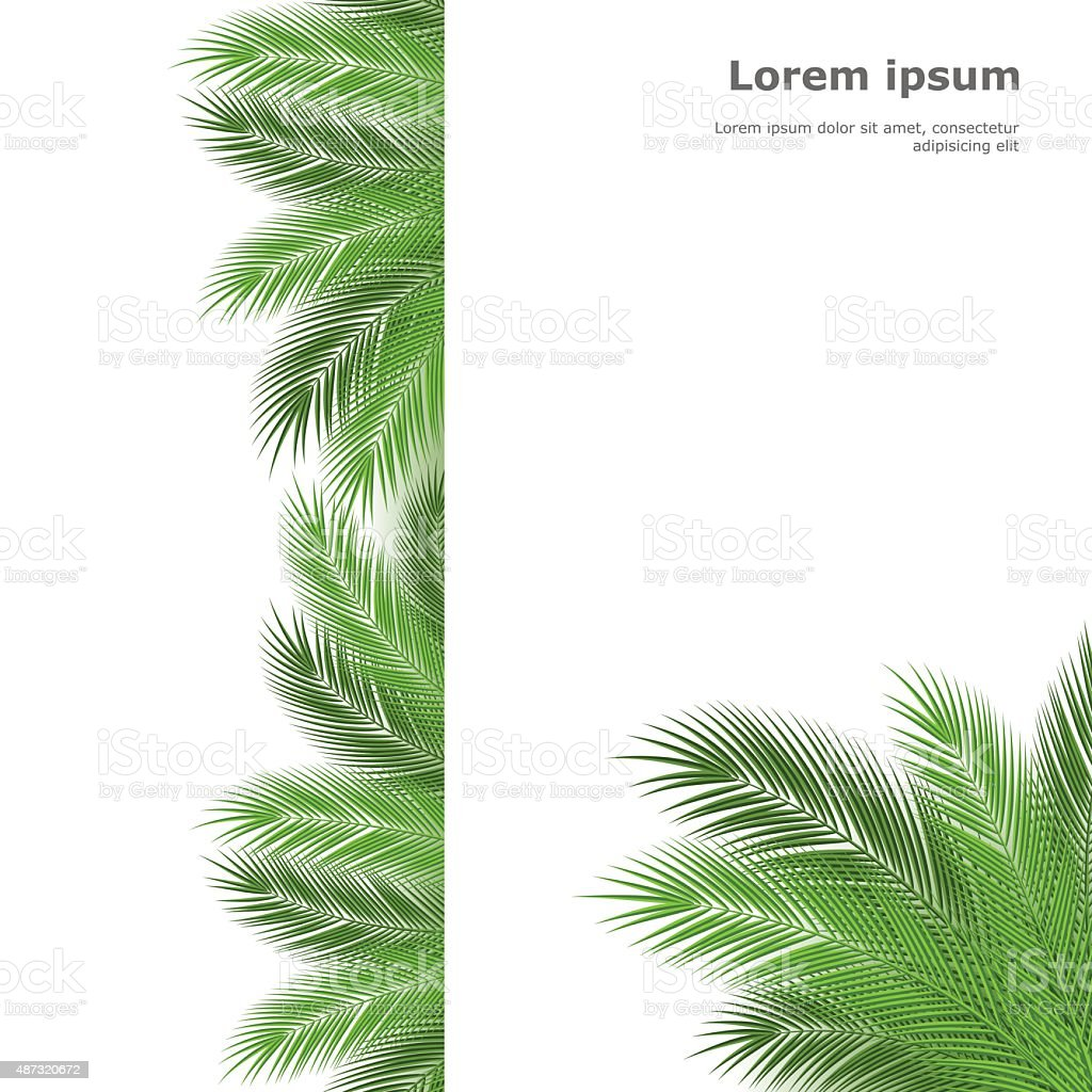 palm template vector art illustration