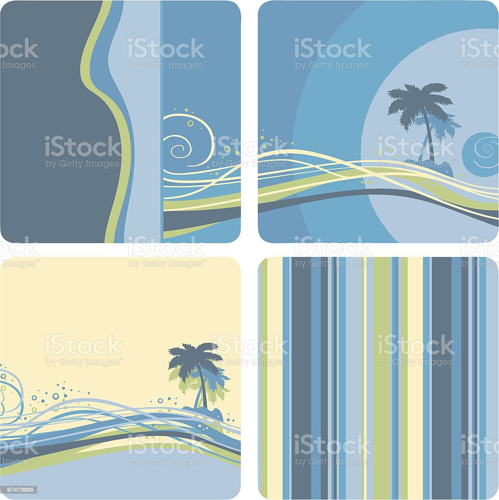 Palm tree and stripes royalty-free stock vector art