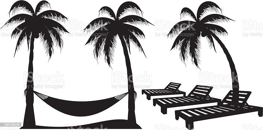 Palm Tree Design Elements royalty-free stock vector art