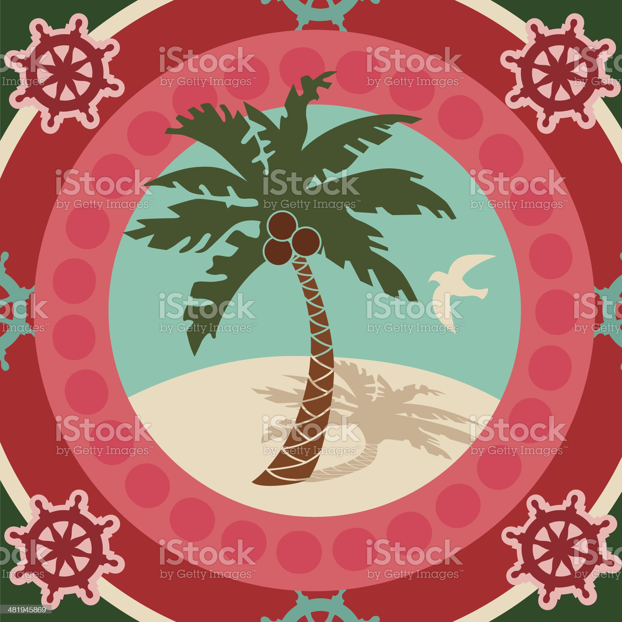 palm tree motif royalty-free stock vector art