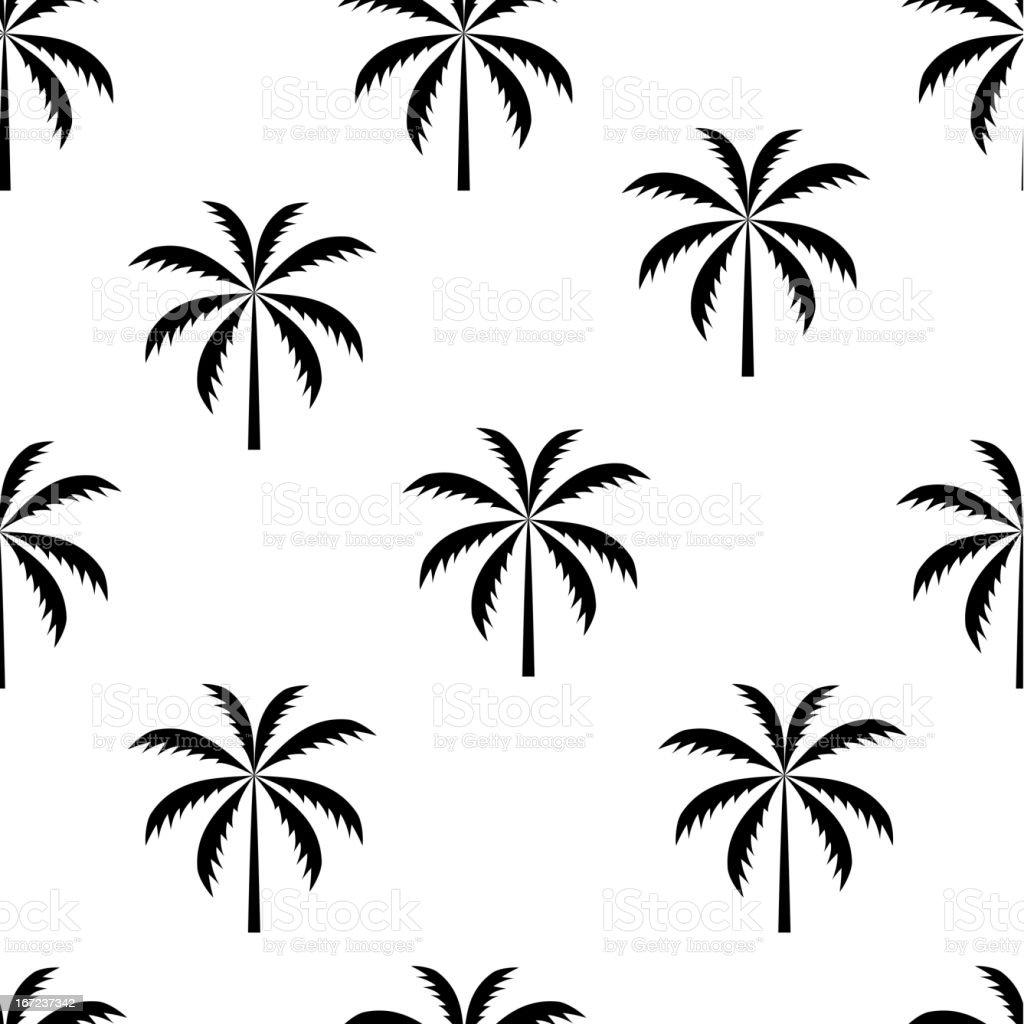 Palm tree seamless pattern vector illustration royalty-free stock vector art