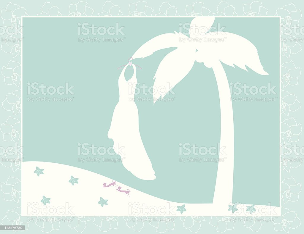 Palm Tree Wedding royalty-free stock vector art