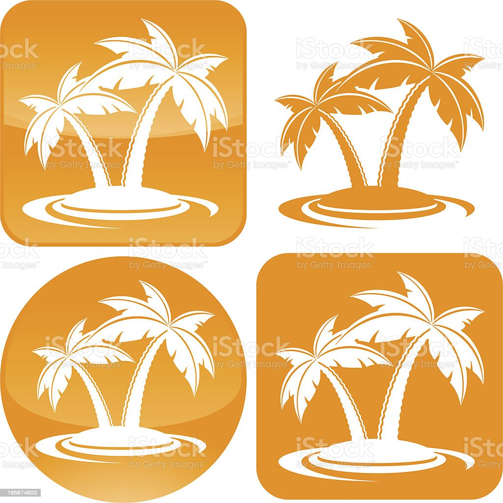 Palm trees icon royalty-free stock vector art