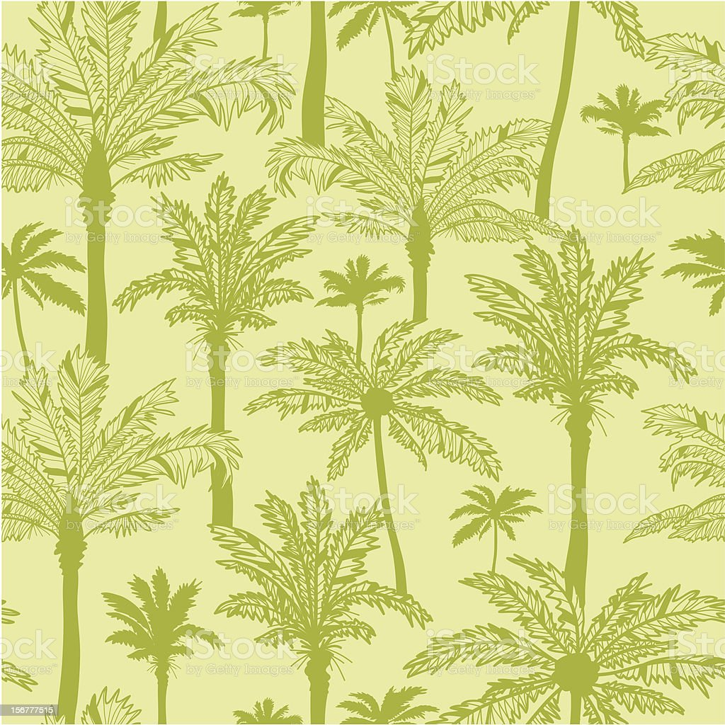 Palm Trees Seamless Pattern Background royalty-free stock vector art