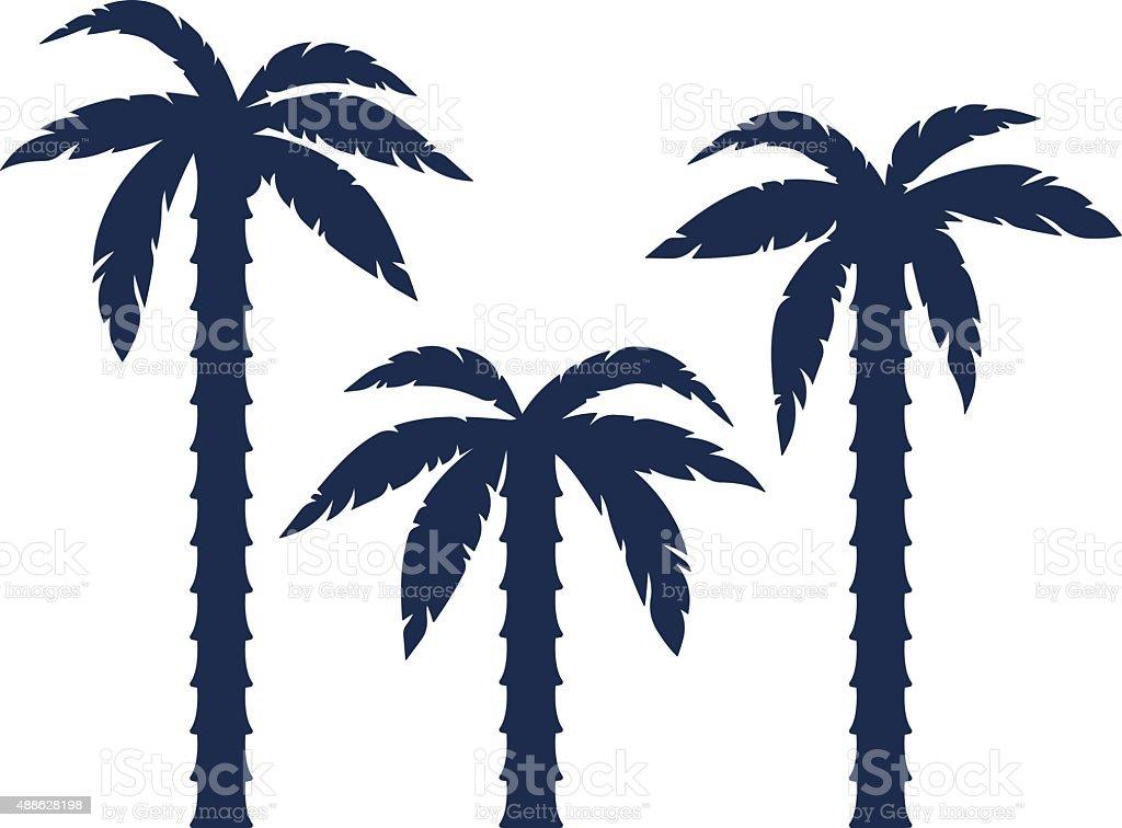 Palm Trees vector art illustration