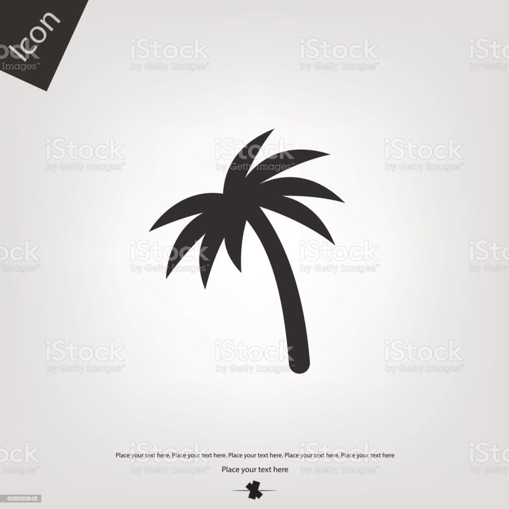Palm vector icon vector art illustration