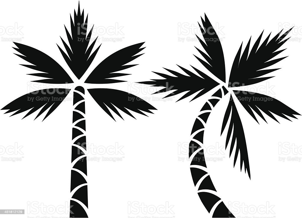 Palms royalty-free stock vector art
