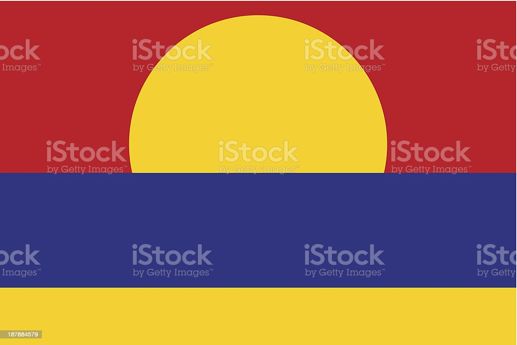 Palmyra Atoll Flag royalty-free stock vector art