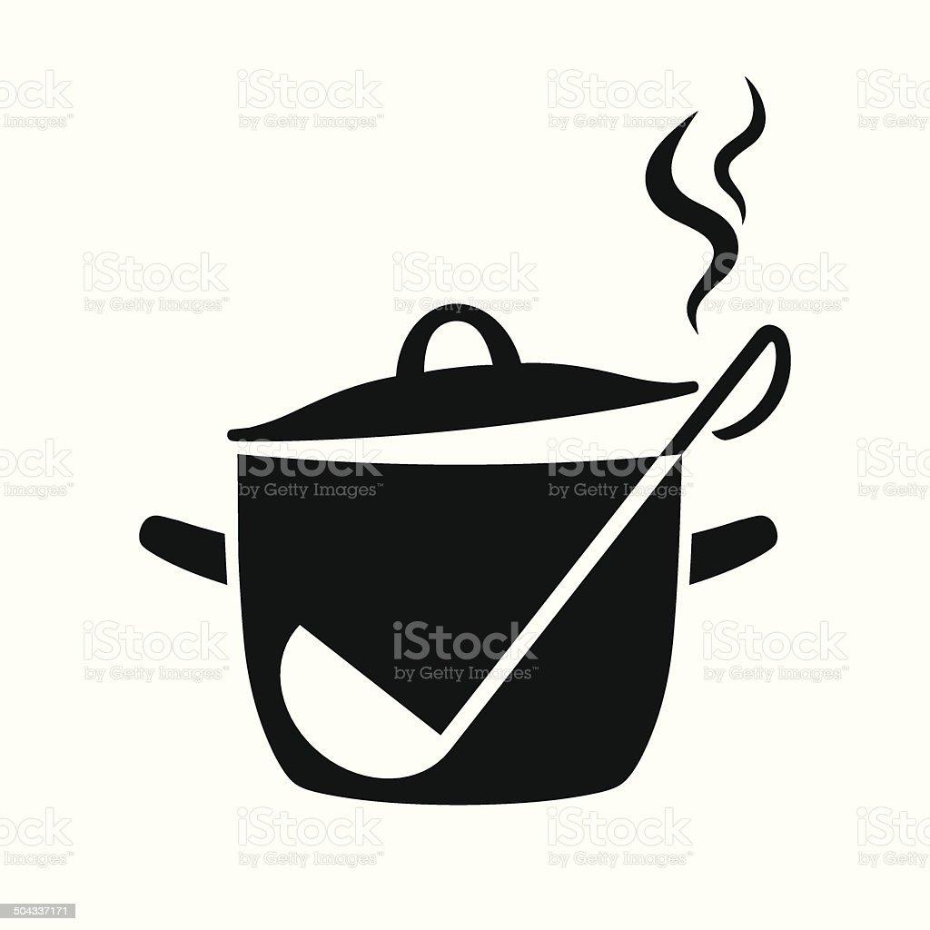 Pan icon vector art illustration