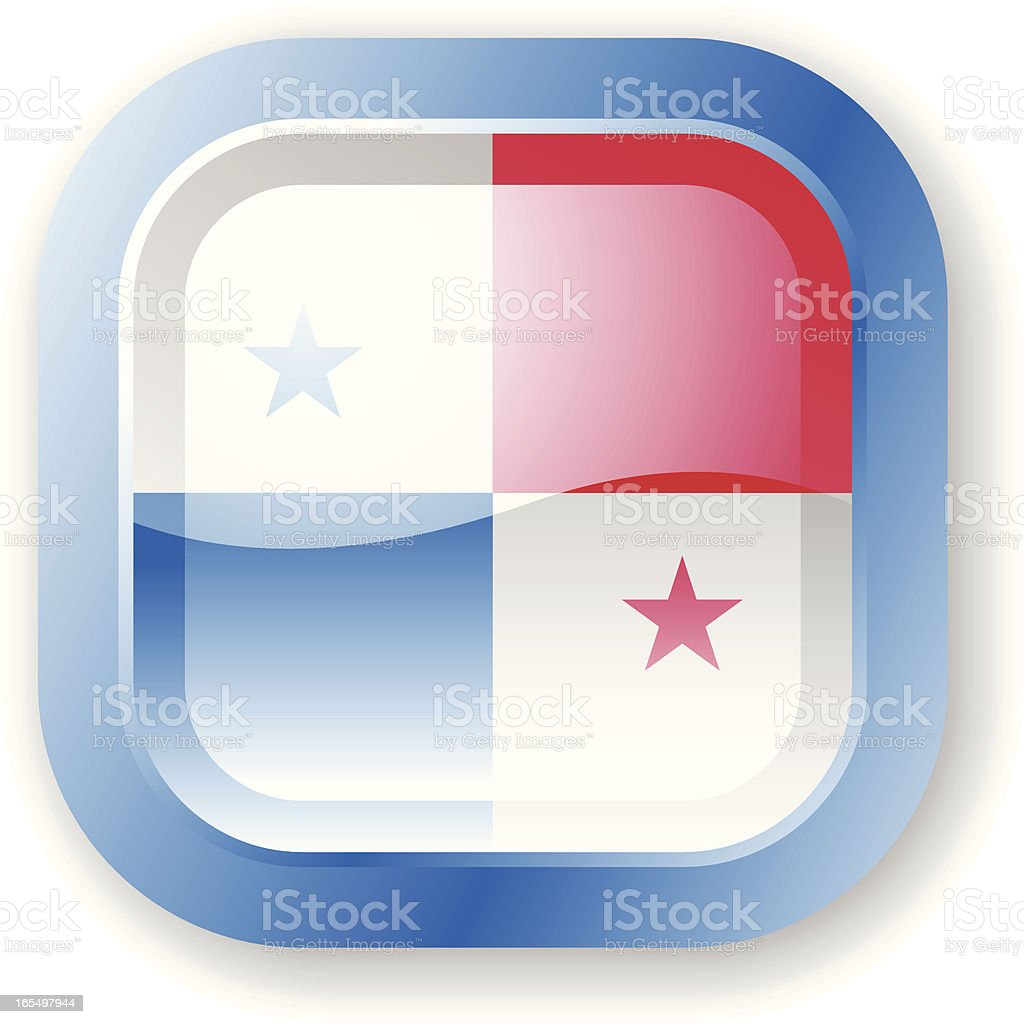 Panama Flag Icon royalty-free stock vector art