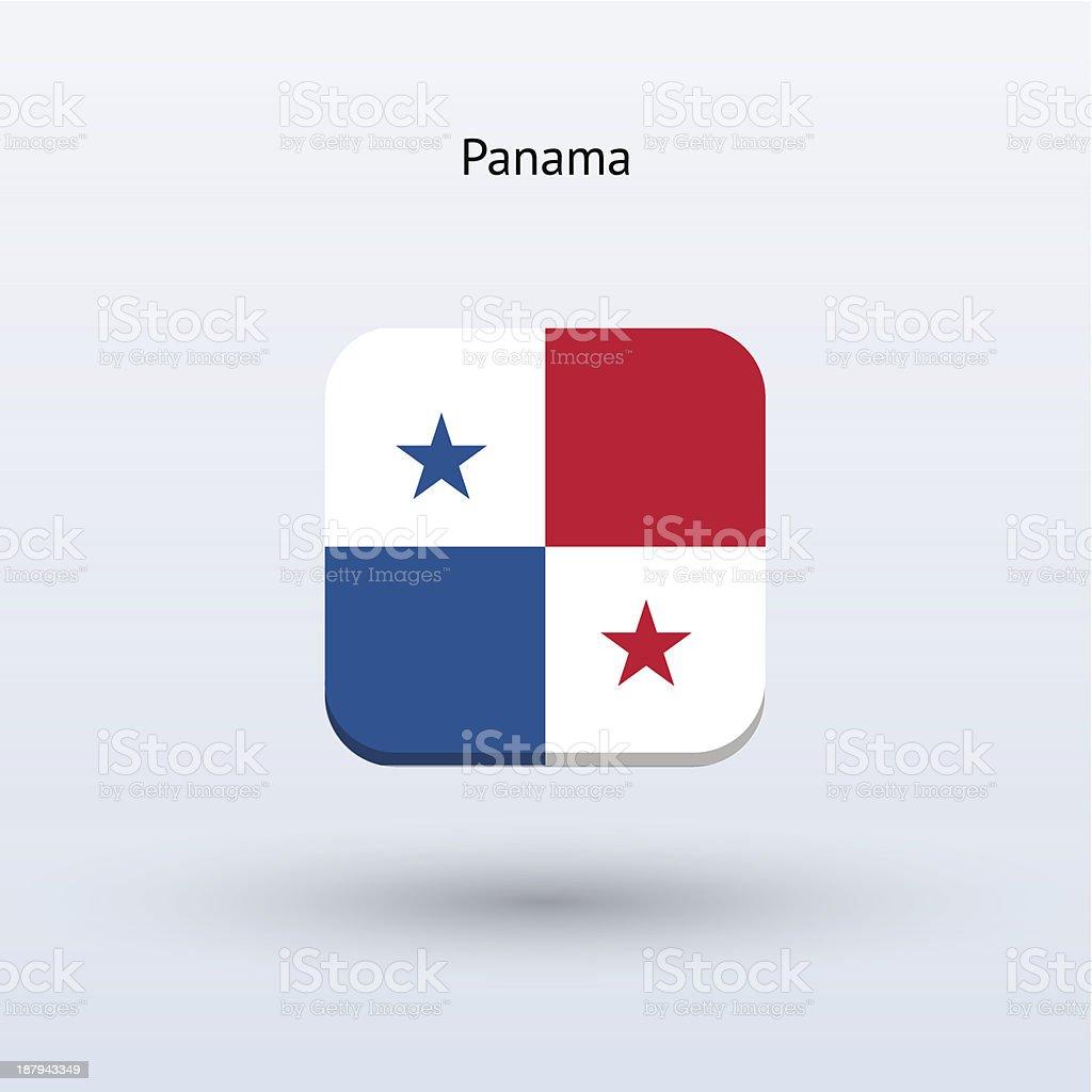 Panama Flag Icon royalty-free stock vector art