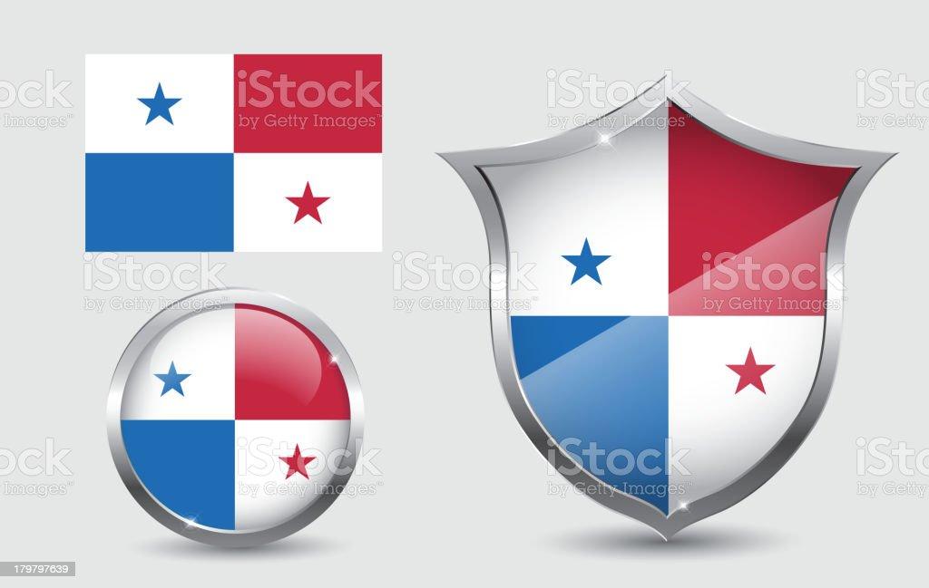 Panama flag royalty-free stock vector art